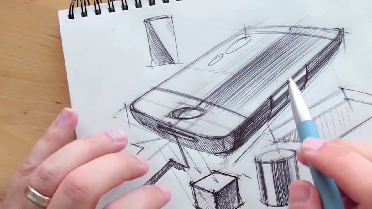 How to draw product design sketching youtube for How to make a blueprint online