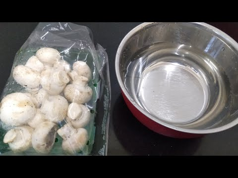 How To Clean Mushroom Before Cooking|How to|Restaurant Style Cutting||Tips by HungryBell