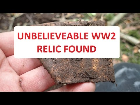 Incredible WW2 relic found.