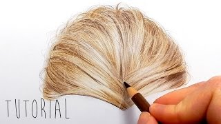 Tutorial | How to draw realistic blonde hair with colored pencils | Emmy Kalia