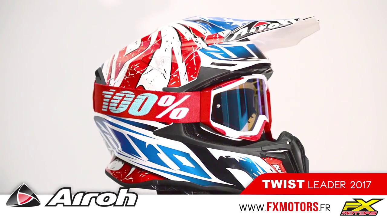 Casque Motocross Airoh Twist Leader 2017 Youtube