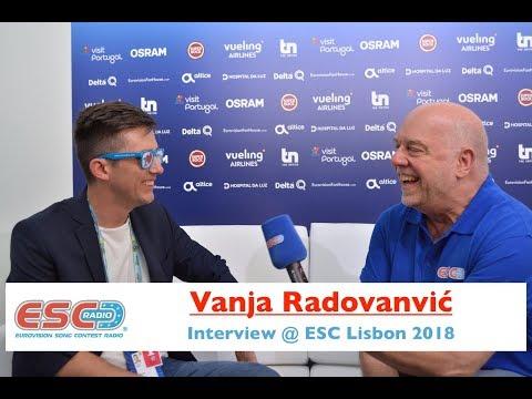Vanja Radovanović (Montenegro) interview @ Eurovision 2018 Lisbon   ESC Radio