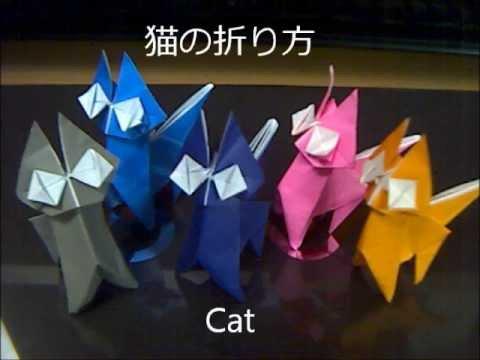 ハート 折り紙 折り紙猫の作り方 : youtube.com