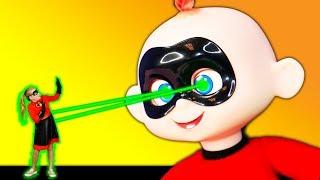 Incredibles 2 Baby Jack Jack Shrinks the Assistant with Elastigirl and PJ Masks