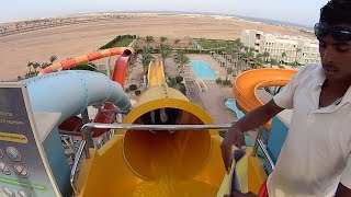 kamikaze water slide at makadi bay water world