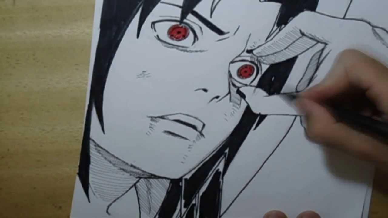 Desenhando Sasuke Uchiha Drawing Sasuke Youtube