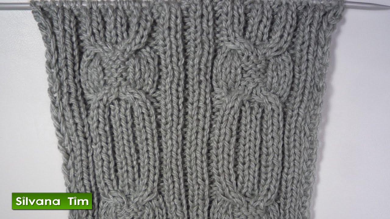 Tutorial de tejido con dos agujas video punto ochos - Como hacer punto de ochos a dos agujas ...