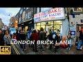 London Brick Lane 4K - Walk Around