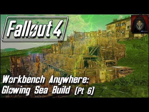 Fallout 4 | GLOWING SEA SETTLEMENT BUILD [Workbench Anywhere] #6 Tiered Farm & Pump House