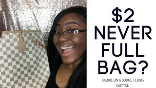 ALIEXPRESS HAUL| BADDIE ON A BUDGET| $2 Louis Vuitton Never Full Bag???