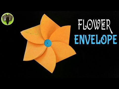 How to make a paper flower envelope useful craft and origami how to make a paper flower envelope useful craft and origami tutorial paperfolds origami arts and crafts mightylinksfo