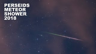 Perseids 2018 August 11 - 12 | Real-time Meteor Shower | 4K | UHD