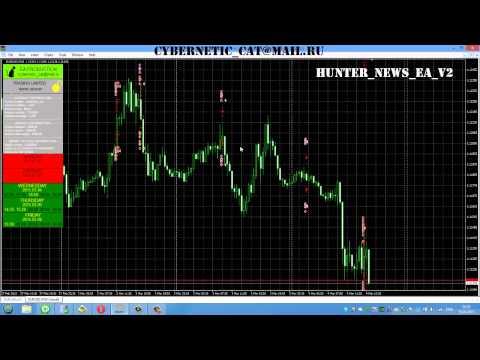 Forex expert Advisor trading news Hunter News EA v2 EN