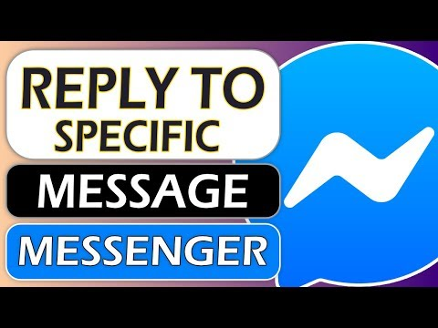 How To Reply Specific Message On Messenger