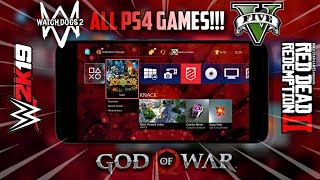 Download Ps4 Emulator For Android || Play GTA 5, God Of War 4, Wwe 2k18 Games On Android | 2019