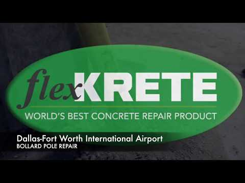 How to repair concrete: Bollard Poles - Dallas-Fort Worth Int'l Airport