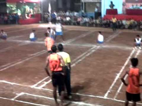 Kho-Kho Match between Mumbai Police Vs Bank of India - chase 1 - 24-Dec-11 Travel Video