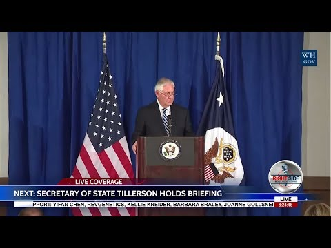 PRESS BRIEFING WITH Secretary of State REX TILLERSON on IRAN DEAL 9/20/17