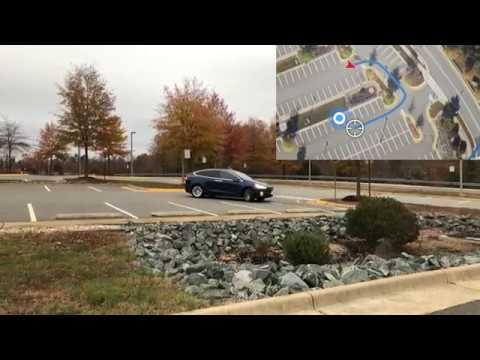 Tesla Smart Summon Test Lot 2 (2019.36.2.1 V10) - YouTube