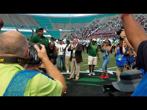 Paralyzed Tim Alexander presents UAB game ball