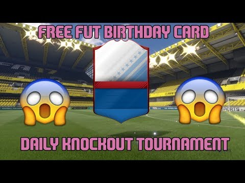 UNLOCKING A FREE FUT BIRTHDAY PLAYER! 😱 FIFA 17 DAILY KNOCKOUT TOURNAMENT!