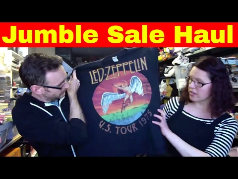 Jumble Sale haul/charity shop haul & ebay reselling chat - How to sell on ebay