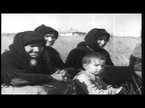 Greek Children Being Released At The Greek- Yugoslavian Border Under The Aegis Of...HD Stock Footage