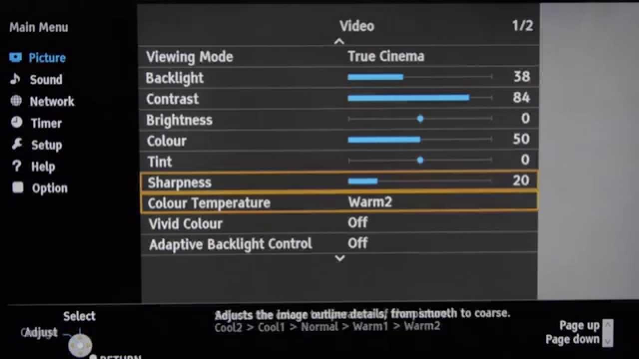 Panasonic Tx 55cs520b Best Picture Settings Youtube