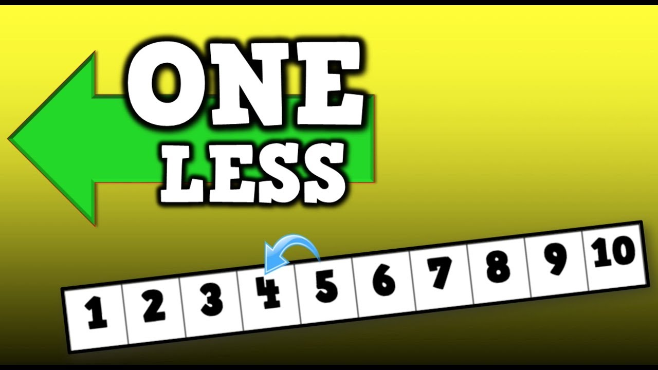 one less song for kids about identifying the that is one less