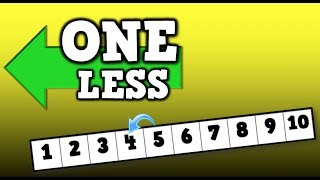 """One Less!! (song for kids about identifying the # that is """"ONE LESS"""")"""