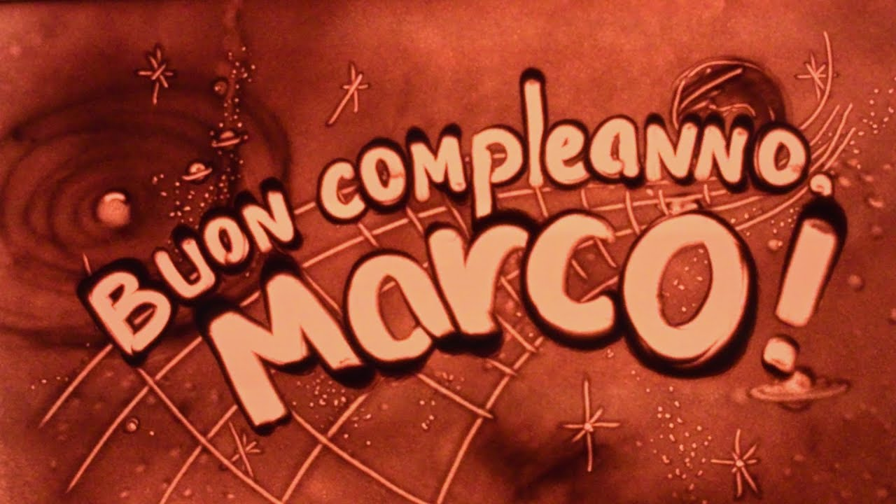 Buon Compleanno Marco Sand Gift Youtube