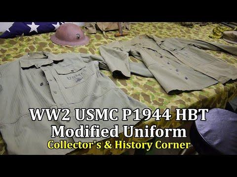 World War 2: USMC P1944 HBT Modified Uniform | Collector's & History Corner