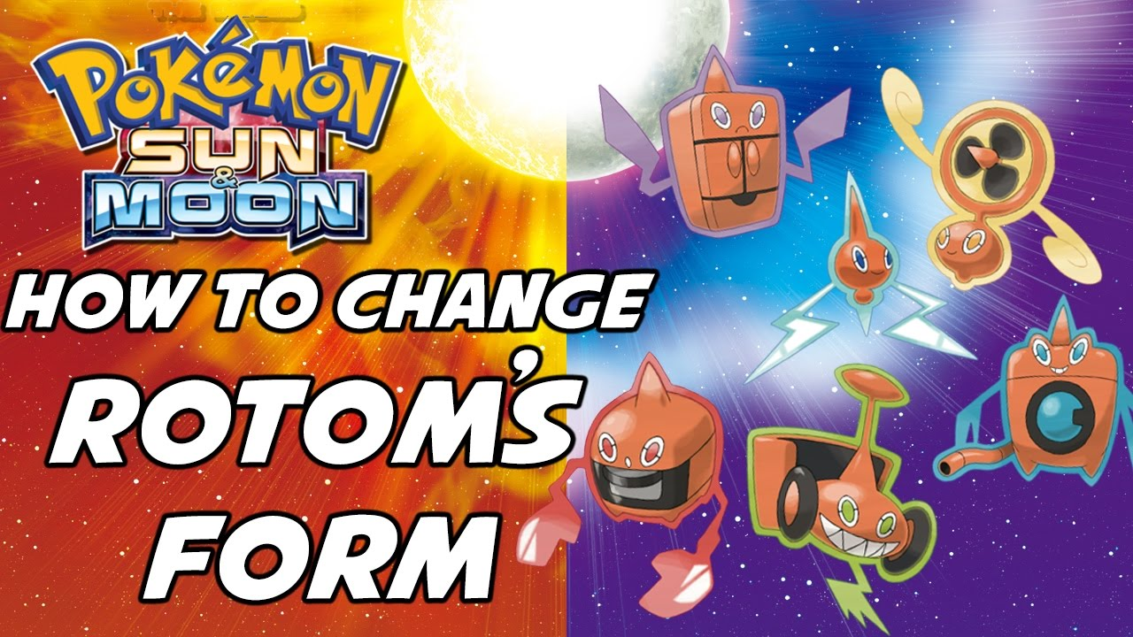 How to Change Rotom's Form in Pokemon Sun and Moon! - YouTube