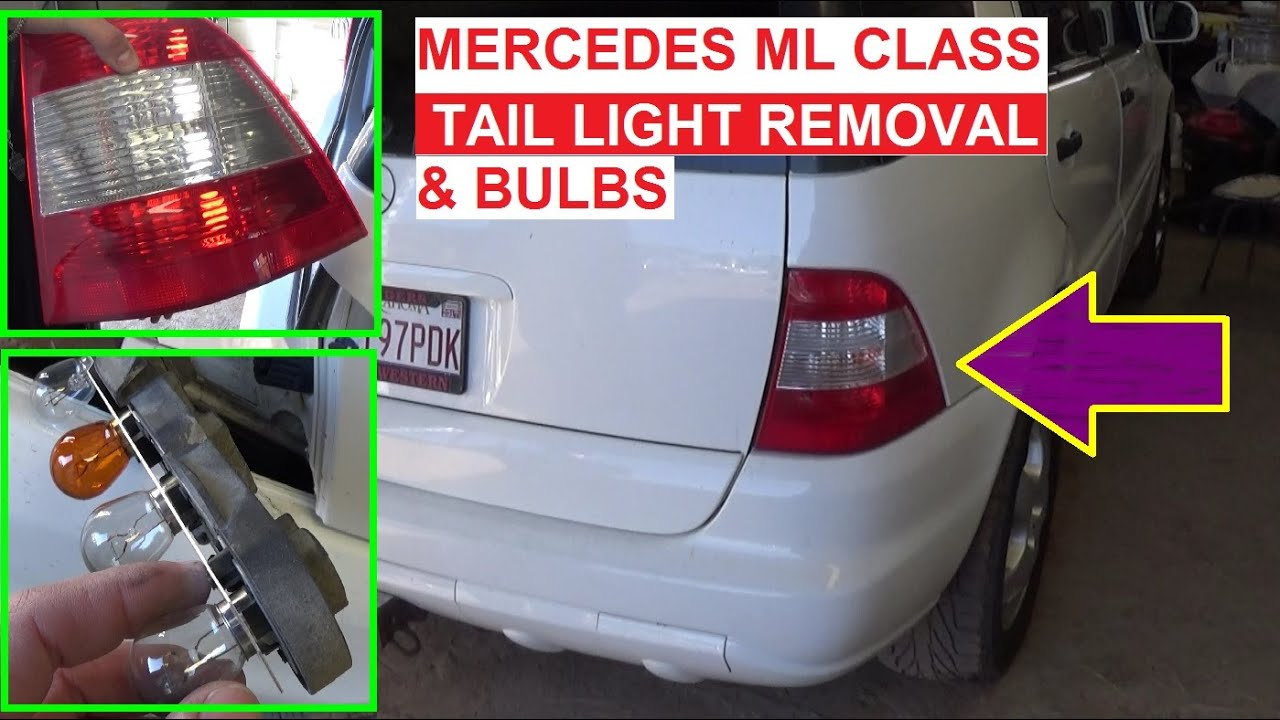 maxresdefault mercedes w163 tail light replacement tail light bulb, rear turn  at bayanpartner.co