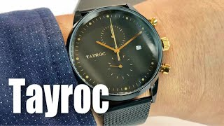 The black and gold Tayroc TXM087 chronograph watch review and giveaway