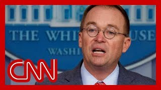Mulvaney says 'get over it' after admitting to quid pro quo