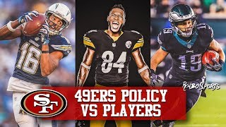 "Live! 49ers Seek ""High Character Players"" Antonio Brown Price Will Be High"