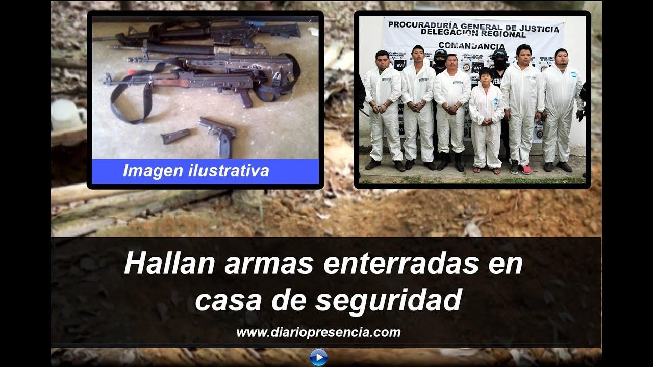 Hallan armas enterradas en casa de seguridad en las - Casas enterradas ...