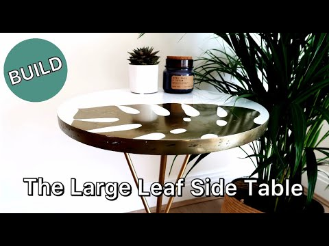 The Large Leaf Side Table Build Using BRASS RESIN POWDER