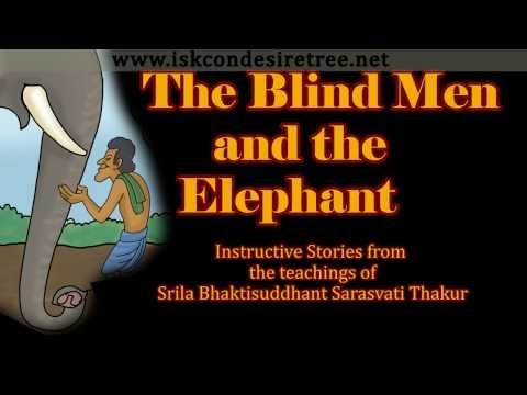 Illustrated Story - The Blind men and Elephant