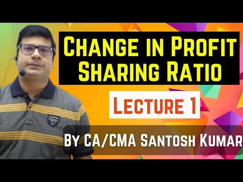 change in profit sharing ratio among  existing partners class 12 by santosh kumar (CA/CMA)