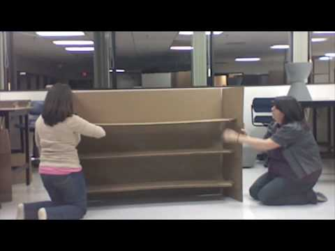How To: Cardboard Shelving Unit
