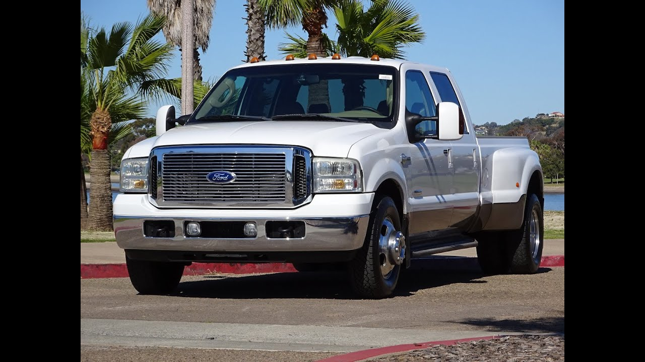 2006 ford f350 diesel dually crew cab 6 0l 2wd white 117k. Black Bedroom Furniture Sets. Home Design Ideas