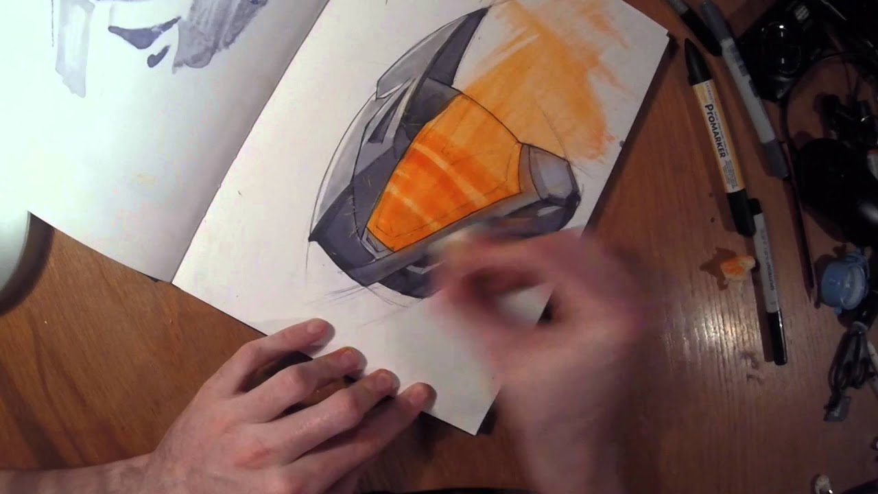 Product Sketch Bike Helmet Youtube