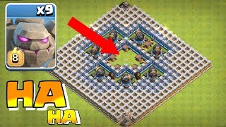 "GOLEM CANNON BOX ""Clash Of Clans"" TROLL GAMES!!"