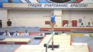 Юные звездочки русской гимнастики.(бревно)