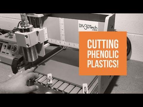 3040 CNC - Cutting Phenolic Plastics with a Single Flute Bit!
