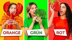 24 Stunden lang nur Essen einer Farbe essen! Der letzte, der mit dem Essen aufhört, gewinnt!