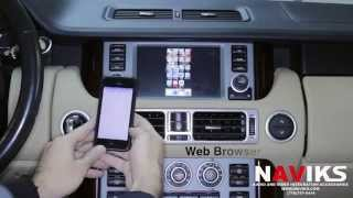 2009 Range Rover HSE L322 NAVIKS Video Integration Kivic One + iPhone 5, Rear View Camera