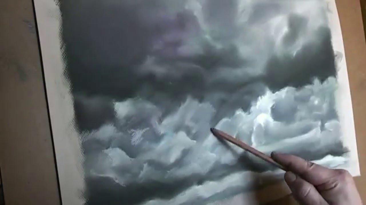Dibujo y pintura Nubes al pastel 33  YouTube